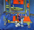 Still Life with Folding Mirror by Roy Powell